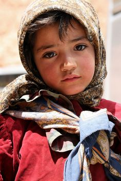 Child from Morocco with big beautiful eyes