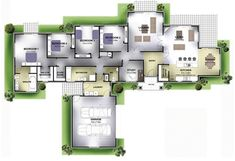 Peter Ray Homes | Christchurch | Reynolds Dream House Plans, House Floor Plans, Building A House, Building Ideas, Sims House, Large Homes, Garden Planning, Bungalow, Architecture Design