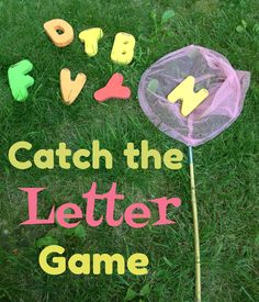 simple little home catch the letter game - Letter Garden Game