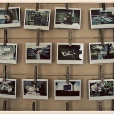 great idea for a photo display