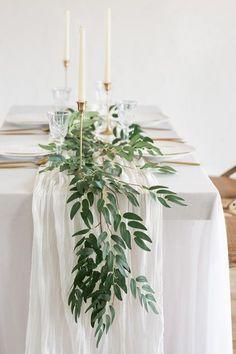 Eucalyptus Centerpiece, Greenery Centerpiece, Greenery Garland, Eucalyptus Garland, Greenery Decor, Floral Garland, Rehearsal Dinner Decorations, Simple Wedding Table Decorations, Flower Table Decorations