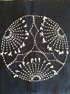 A Quilter by Night: Sashiko sampler beginnings.. Mitsu ume (three plum blossoms)