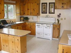 1950s knotty pine kitchens | The awesome kitchen of Betty Crafter