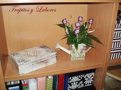 flores bordadas para mis plantas