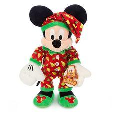 Disney Mickey Mouse Plush Holiday Pajamas Medium 15'' | eBay