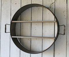 Industrial Farmhouse Decor from Rust and Relics LLC!! Repurposed Drum Shelf-$99.95!! www.rustandrelics.net