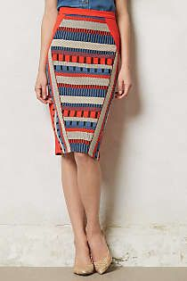 Pencil skirt.  Lovely inverted triangle multi-colour .