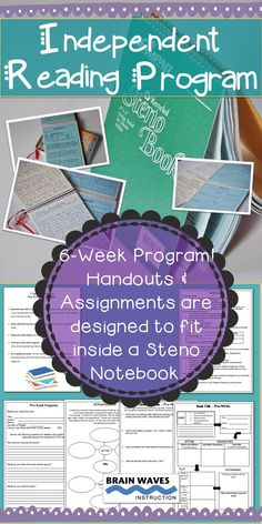 This Independent Reading Program is a 6-week program where students read self-selected books and complete 8 assignments to demonstrate and develop their comprehension and reading skills. Over the course of six weeks students will complete a Pre-Read, Journal Entry, Reading Strategy Graphic Organizer, Final Response and Book Talk. All assignments are designed to be glued into or completed in a steno notebook. The program is extremely detailed with resources for parents, students, and…