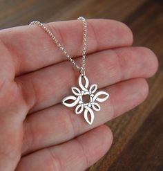 Square Celtic knot pendant necklace in sterling silver, unique infinity, Irish jewelry, infinity necklace, silver infinity, architectural on Etsy, $34.00 #silverjewelry