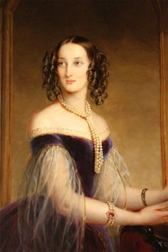 1841 Grand Duchess Maria Nikolaievna by Christina Robertson (Hermitage) head and bodice.  Married to the nephew of the King of Bavaria, but stayed in Russia, so I'm putting her in Russia.