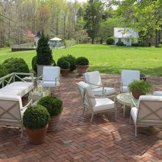The Peak of Chic®: A Bucolic Virginia Residence Brick Paver Patio, Brick Patios, Porches, Paved Patio, Backyard Patio Designs, Patio Ideas, Outdoor Projects, Outdoor Living, Gardening