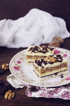 Coconut Cake, Vanilla Buttercream and Nuts Romanian Desserts, Romanian Food, Cake Recipes, Dessert Recipes, Vanilla Buttercream, Something Sweet, Sweet Desserts, Cake Cookies, Coco