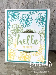 Sale-A-Oration 2016, Stampin' Up!, SAB, What I Love stamp set, Hello Stamp Set - StampinByTheSea.com