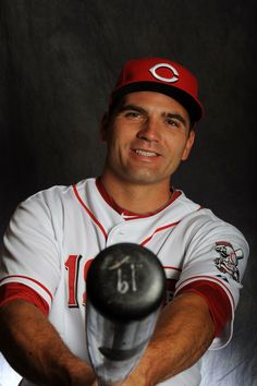 Joey Votto of the Cincinnati Reds poses for a portrait during a photo day at Goodyear Ballpark on February 25, 2012 in Goodyear, Arizona. (Photo by Rich Pilling/Getty Images)