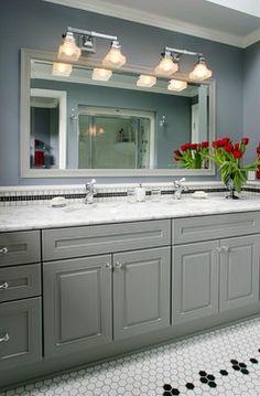 Vanity Unit Bathroom Grey casa verde design - bathrooms - benjamin moore - vapor trails