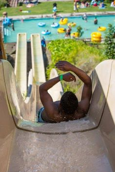 Fun with water slides