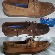 How to clean Sperry Topsiders - seems a bit scary to try. Has anyone done this?