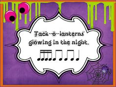 O For Tuna Orff: Halloween Rhythms with Sixteenth Notes.. for 3rd/4th/5th grade
