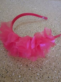 Six Sisters' Stuff: Easy Ruffle Knotted Headband Tulle Headband, Knot Headband, Tulle Bows, Activity Day Girls, Activity Days, Tulle Crafts, Barrettes, Hairbows, Headband Tutorial