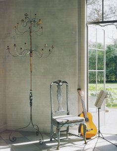 Italian Torchére and Swedish 18th-century chair