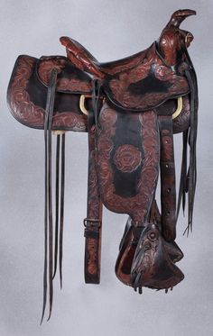 N. Porter Fancy Tooled Saddle Western Bridles, Western Tack, Western Riding, Roping Saddles, Horse Saddles, Horse Tack, Cowboy Gear, Leather Carving, Riding Gear
