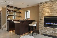 modern home wet bar
