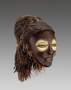 Pwo mask     Chokwe peoples Angola 1820    National museum of african art, Washington    exhibition heroic africans - metropolitain museum of art
