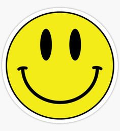 """""""Acid House Smile Face"""" Stickers by Chairboy Emoji Stickers, Face Stickers, Tumblr Stickers, Printable Stickers, Laptop Stickers, Acid House, Emoji Phone Cases, Iphone Cases, Yellow Smiley Face"""