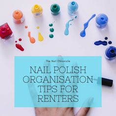 If you're renting you probably can't attach anything to the walls. In my latest blog post, I've included heaps of options that don't require any drilling or holes in the wall. #acryliclipstickholder #nailpolishrack #nailpolishstand #nailpolishholder #nailpolishdisplay #nailpolishdisplayrack #acrylicnailpolishstand #acrylicnailpolishholder #nailpolishshelf #makeuporganizer Nail Polish Stand, Nail Polish Holder, Nail Polish Storage, Simple Nail Art Designs, Easy Nail Art, Stamping Plates, Nail Stamping, Small Bookshelf, Make Up Organiser