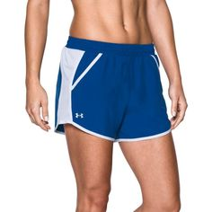 Under Armour Women's Fly-By Running Shorts, Size: XL, Blue