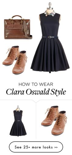 """""""Clara Oswin Oswald"""" by hellosweetie24 on Polyvore featuring Closet, Chelsea Crew, The Bridge, doctorwho, London and comicconfashion Clara Oswald Clothes, Stylish Outfits, Cute Outfits, Quirky Fashion, Fandom Outfits, Geek Chic, Classy And Fabulous, What To Wear, Winter Fashion"""