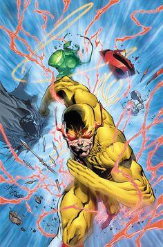 Flashpoint Reverse Flash by on DeviantArt Lego Dc Comics, Arte Dc Comics, Flashpoint, Dc Speedsters, Green Lantern Movie, Eobard Thawne, Flash Tv Series, Flash Comics, Flash Wallpaper