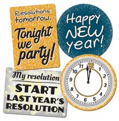 Plastic signs for a new year's eve party. Tonight we party! New Year Clock, Plastic Signs, Diy Photo Booth, Holiday Signs, Party Props, New Years Eve Party, Happy New Year, Christmas Holidays, Resolutions
