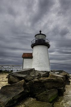 Lighthouse in the Storm by ron.diel, via Flickr