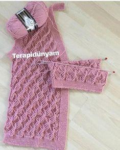 yelekmodelleri orgumodelleri e . Vintage Crochet Patterns, Crochet Poncho Patterns, Easy Knitting Patterns, Lace Knitting, Knitting Stitches, Crochet Designs, Diy Crafts Knitting, Knit Vest Pattern, Crochet Shell Stitch