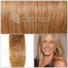 Beautiful Blondes | Blonde Shades Available from Cliphair | Dark Blonde #14 | Available in Full Head Sets and thicker Double Wefted Sets | Free Worldwide Delivery | Click the photo to go to website