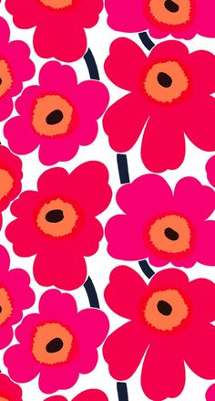 マリメッコウニッコ iPhone壁紙 Wallpaper Backgrounds iPhone6/6S and Plus Marimekko Unikko iPhone Wallpaper