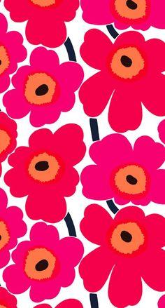 マリメッコウニッコ iPhone壁紙 Wallpaper Backgrounds iPhone6/6S and Plus Marimekko Unikko iPhone Wallpaper