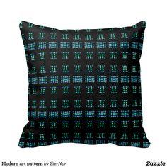 Modern art pattern throw pillow