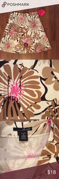 "✂️ 3 DAY SALE Cotton Summer skirt 97% cotton 3% spandex.  23"" long.  Hidden side zipper. Willi Smith Skirts"