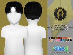 Sims 4 Hairs ~ Coupure Electrique: Hair 03 reetxtured for toddlers Sims 4 Game Mods, Sims 4 Mods, Toddler Hair Sims 4, Sims 4 Hair Male, Male Hair, The Sims 4 Bebes, Baby Boy Hairstyles, Short Hairstyles, Pelo Sims