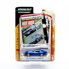 1968 CHEVROLET CORVETTE GL Zine Machines Series One 2011 Greenlight Collectibles Limited Edition 1:64 Scale Die-Cast Vehicle & Collector Trading Card