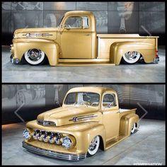 1952 beautiful golden Ford Custom