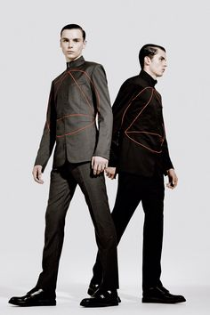 """""""Binary"""" pieces from Dior Homme FW13, for Metal magazine 
