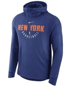 2e572bca0a0 Buy Men s Nike Blue New York Knicks Practice Pullover Performance Hoodie  from the Official Store of the New York Knicks. Shop for Men s Nike Blue  New York ...