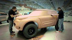 Ein Gadget der besonderen Art: Dieses Renault Concept Car hat eine Aufklärungsdrohne an Board.