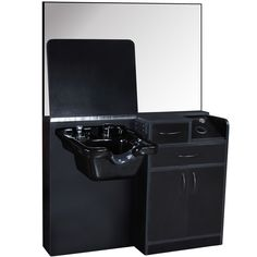 Salon Equipment Wet Styling Station with Cabinet Amp ABS Shampoo Bowl Su 01D   eBay