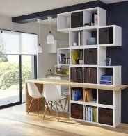 Une cuisine semi ouverte avec une bibliothèque - Marie Claire Maison