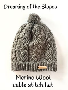 Cables! This cable stitch hat crochet pattern is fun to crochet and creates a beautiful crochet hat! Perfect for gift giving - or keep it for yourself!