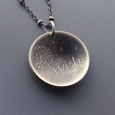 Silver jewelry- truly one of my favorite memories from childhood is blowing dandelion flowers to make a wish. love this! #SilverJewelry